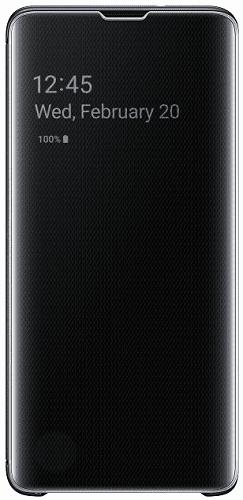 Samsung Clear View puzdro pre Samsung Galaxy S10+, čierna