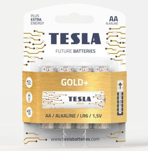 TESLA GOLD+ AA 4ks, alkalická batéria