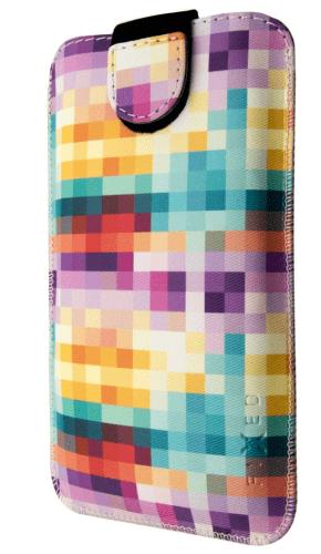 Fixed Soft Slim univerzálne puzdro XXL, motív kociek