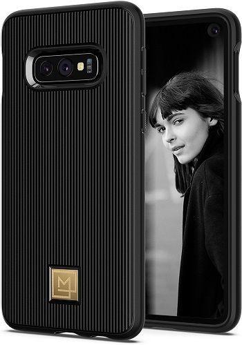 Spigen La Manon Classy puzdro pre Samsung Galaxy S10e, čierna