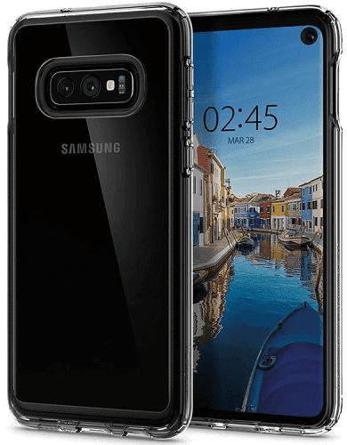 Spigen Crystal Hybrid puzdro pre Samsung Galaxy S10e, transparentná