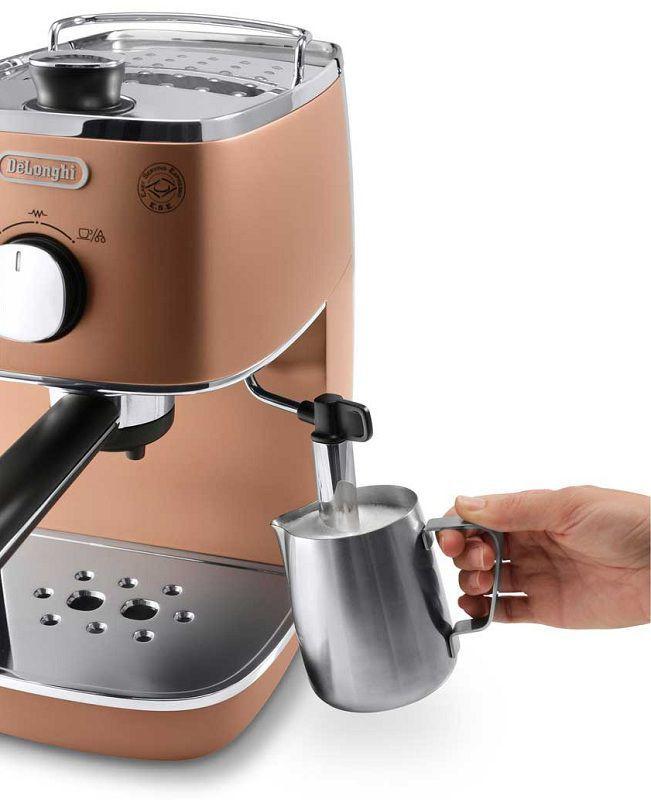 Nezameniteľný elegantný dizajn kávovaru, o akom sa vám ani nesnívalo - DELONGHI ECI 341.CP Distinta, Pákové espresso