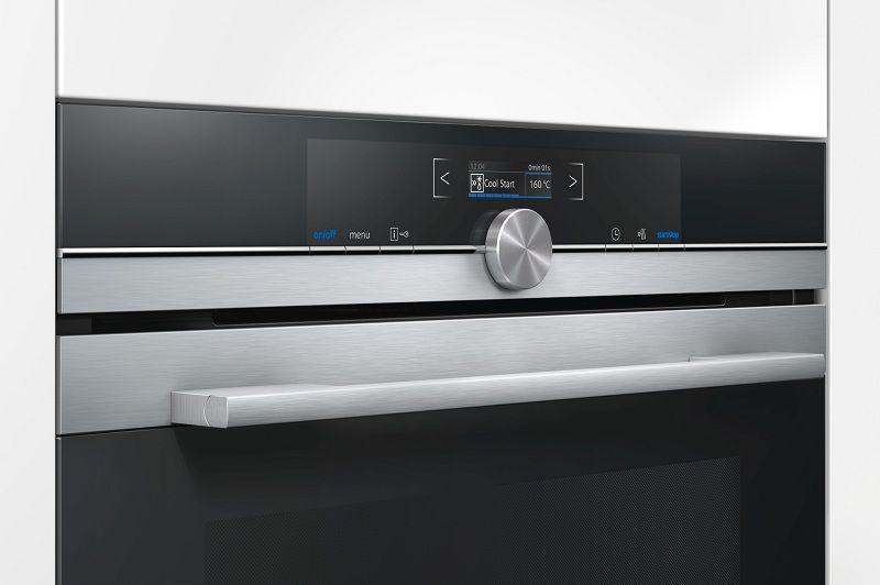Kvalitné nerezové prevedenie - Siemens CM633GBS1, kompaktná rúra s mikrovlnami