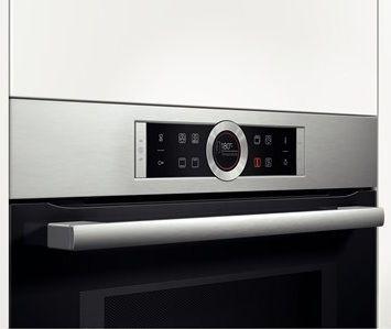 Pohodlné dotykové ovládanie  - Bosch CMG633BS1, kompaktná rúra s mikrovlnami