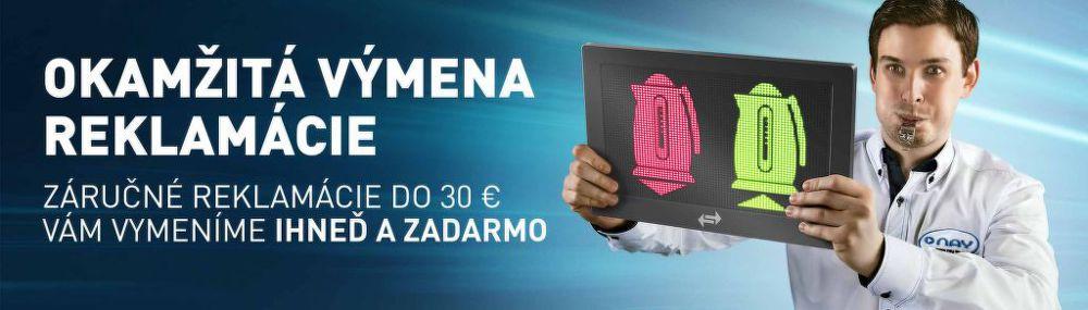 Okamžitá výmena záručnej reklamácie do 30€
