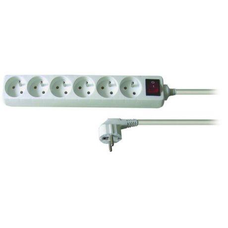 Solid PP70 - Predlžovačka, 6 zásuvek, vypínač, 1,5m