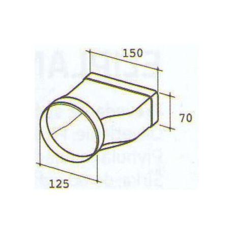 ELICA 1052 G, plastove rozvody 125mm