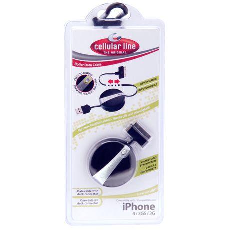 CellularLine rolovací USB dátový kábel pre iPhone