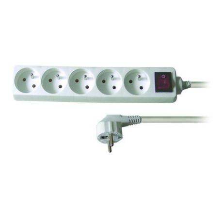 Solid PP52 - Predlžovačka, 5 zásuvek, vypínač, 3m