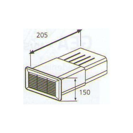 ELICA 1053 U, plastove rozvody 150mm
