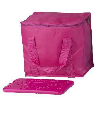 COOL-IT BF-41994-R, chladiaca taška cez rameno růžová (objem 7l) a velká chladiaca vložka
