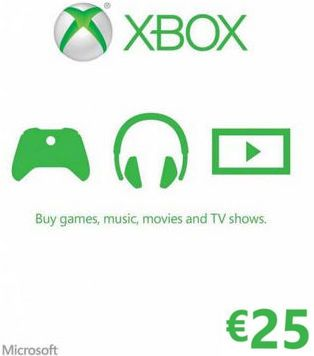 Xbox LIVE kupón v hodnote 25 Eur