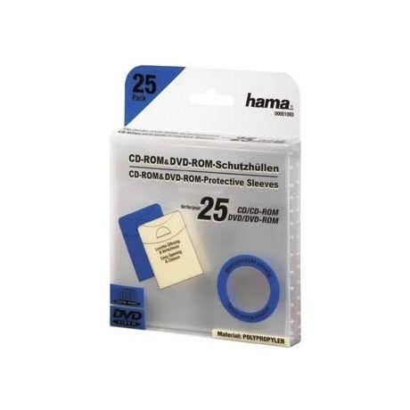 51093 CD/DVD plastový ochr.obal 25ks transparent