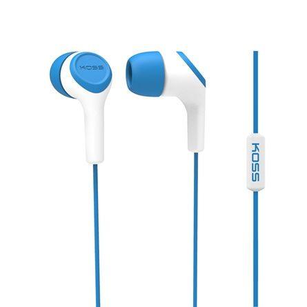 KOSS KEB15i (modré) - slúchadlá do uší