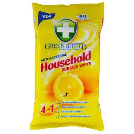GREEN SHIELD antibakteriálne vlhčené utierky
