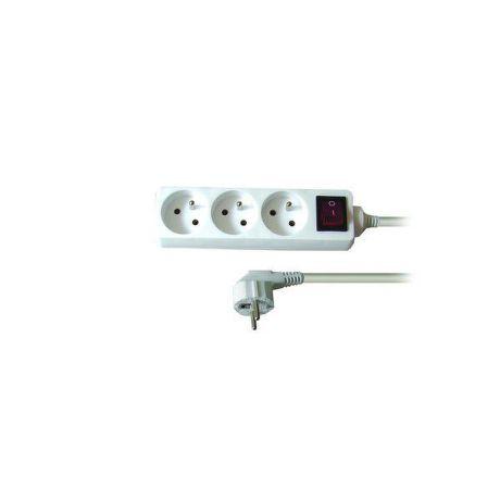 Solid PP11 - Predlžovačka, 3 zásuvky, vypínač, 2m
