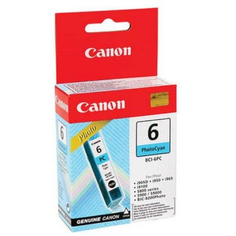CANON BCI-6PC, Photo CYAN Ink Cartridge, BL SEC