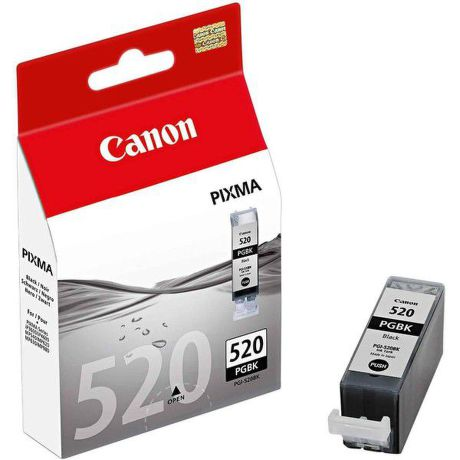 CANON PGI-520BK, Black Ink Cartridge, BL SEC