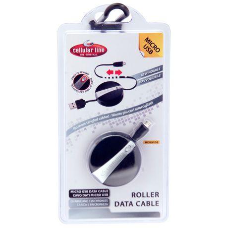 CellularLine rolovací USB dátový kábel s micro USB