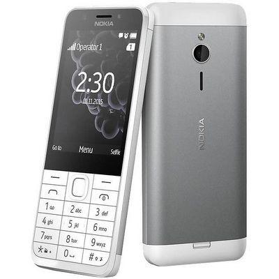 Nokia 230 Single SIM (bielo strieborný)