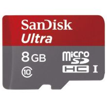 124070 SANDISK MICRO SDHC Ultra 8GB 48 MB/s UHS-I