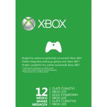 XBOX 360 LIVE SK Gold karta 12 mesiacov
