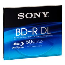 Sony Blu-Ray BD-R DL 50GB 2x Speed, Slimbox, 1ks