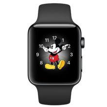 Apple Watch Series 2 38mm (vesmírne čierna nerezová oceľ / vesmírne čierny športový remienok)