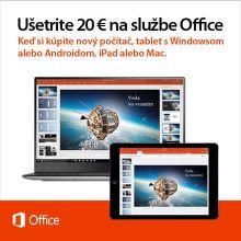 20 € zľava na nový Microsoft Office