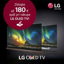 Cashback až do 180 € na TV LG