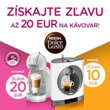 Zľava až do 20 € na kávovary Nescafé Dolce Gusto