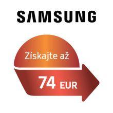 Cashback až do 74 € na chladničky a práčky Samsung