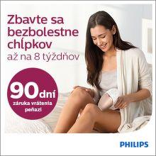 90 dní záruka vrátenia peňazí na epilátory Philips Lumea