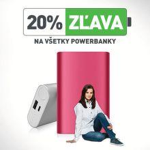 20% zľava na všetky powerbanky