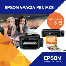 Cashback až do 115 € na tlačiarne Epson