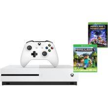 Microsoft Xbox One S 500 GB biely + Minecraft + Minecraft Story Mode