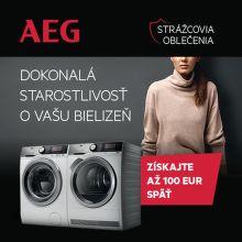 Cashback až do 100 € na práčky a sušičky AEG