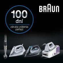 100 dní záruka vrátenia peňazí na žehličky a mixéry Braun