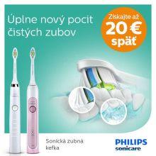 Cashback až do 20 € na zubné kefky Philips Sonicare