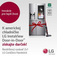 Darček k americkej chladničke LG