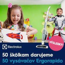 Výsledky súťaže: Vyhrajte pre svoju škôlku vysávač Electrolux