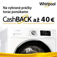 Cashback až do 40 € na práčky Whirlpool