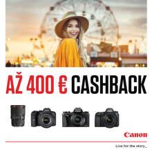Cashback až do 400 € na fototechniku Canon