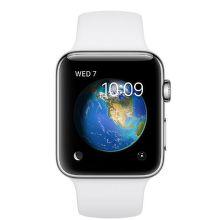 Apple Watch Series 2 38mm (nerezová oceľ / biely športový remienok)