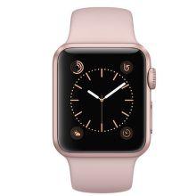Apple Watch Series 1 38mm (ružovo zlatý hliník / pieskovo ružový športový remienok)