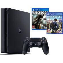 Sony PlayStation 4 1TB+Watchdogs 1+2 (čierny)