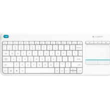 Logitech Wireless Touch Keyboard K400 Plus (biela)