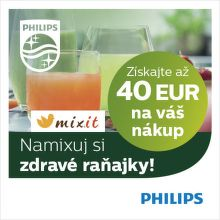Darček k mixérom a odšťavovačom Philips