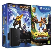Sony PlayStation 4 Slim 500GB + Crash Bandicoot N Sane Trilogy + Ratchet & Clank čierna