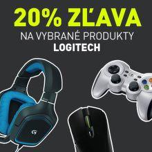 20% zľava Logitech